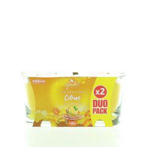 Glade Lumanare odorizanta 2x129 g Sparkling Citrus Sunrise