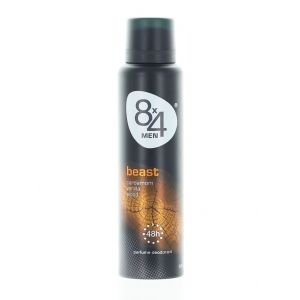 8x4 Spray deodorant barbati 150 ml Beast