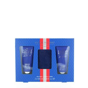 Grace Cole Caseta barbati:Gel de dus+Sampon+Prosop 2x100 ml Blue