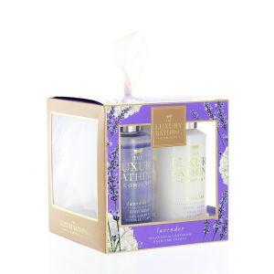 Grace Cole Caseta femei:Gel de dus+Crema de corp+Burete de baie 2x100 ml Lavender
