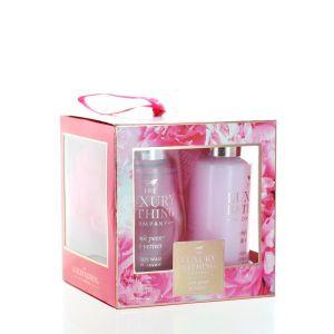 Grace Cole Caseta femei:Gel de dus+Crema de corp+Burete de baie 2x100 ml Pink Peony