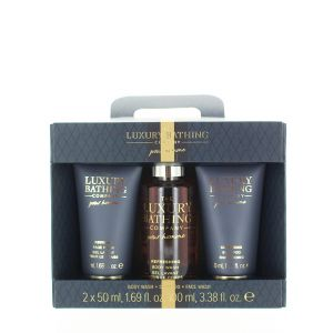 Grace Cole Caseta barbati:Gel de dus+Sampon+Gel de curatare fata 100+2x50 ml Black