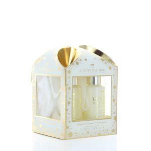 Grace Cole Caseta femei:Gel de dus+Crema de corp+Burete de baie 2x100 ml Bergamot Ginger