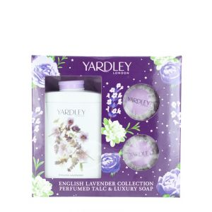 Yardley Caseta femei:Pudra talc+2 X Sapun 200+2X100 g English Lavender