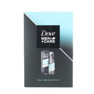 Dove caseta barbati:Gel de dus+Spray Deodorant 250+150 ml Clean Comfort