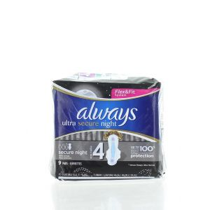 Always Absorbante 9 buc Ultra Secure Night