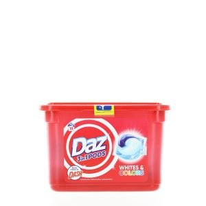 Daz(Dash) Detergent Capsule 14 buc 3in1 Whites&Colors