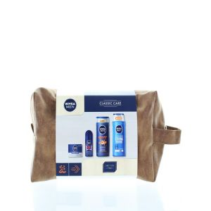 Nivea Gentuta Barbati:Gel de dus+Sampon+Roll-On+Crema 250+250+50+50 ml Classic Care