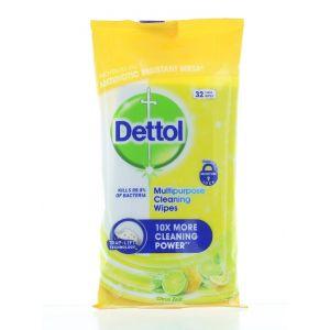Dettol Servetele umede pt suprafete 32 buc Citrus Zest