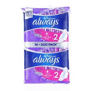 Always Absorbante Duo Pack 14 buc S2 Ultra Super Plus