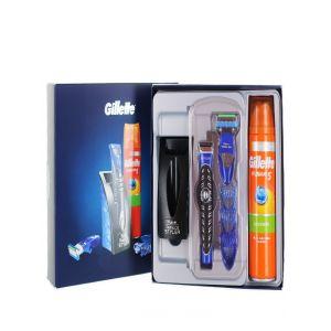 Gillette caseta:Aparat de tuns barba+Rezerva+Gel de ras 200 ml Fusion5