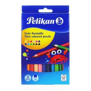 Pelikan Creioane Color Triunghiulare 12buc/set Groase