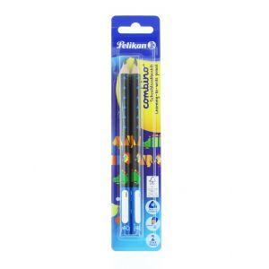 Pelikan Creion Grafit (B) 2 buc Combino Albastru
