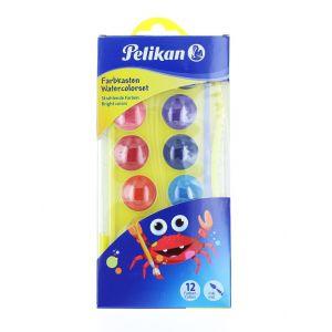 Pelikan Acuarele Junior 12 Culori + Pensula