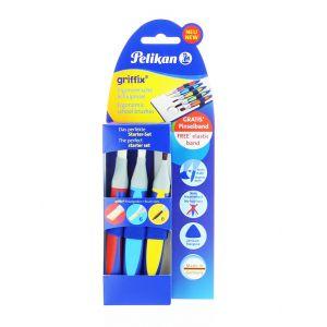 Pelikan Set 3 Pensule Griffix (Varf Lat:12,6+Varf Rotund:6)
