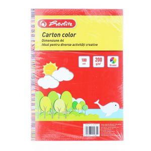 Herlitz Carton Color A4 10 Culori 100 Coli