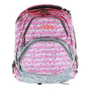 Herlitz Rucsac Rocky Cu Doua Comp. Cod:642 Pink Stripes (41x26x21cm)