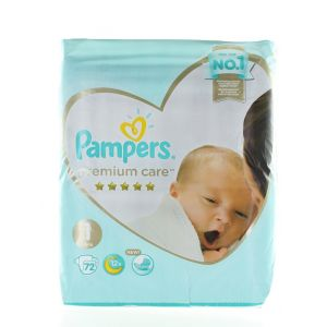 Pampers scutece nr.1  2-5 kg 72 buc Premium Care