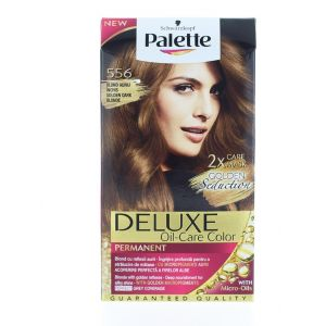 Palette Vopsea de par Deluxe Oil-Care Color 556 Golden Dark Blonde