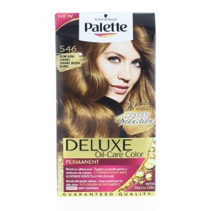 Palette Vopsea de par Deluxe Oil-Care Color 546 Caramel Golden Blonde