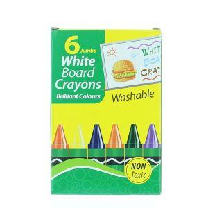 Set 6 Creioane Colorate Pentru Tabla Alba