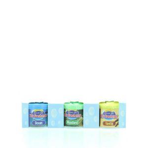 Air Freshener Gel Odorizant 3x50 g Woodland,Vanilla, Ocean