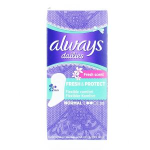 Always Absorbante subtiri zilnice 30 buc Normal Fresh&Protect