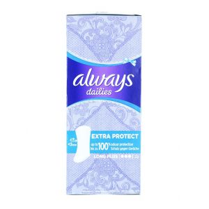 Always Absorbante subtiri zilnice 22 buc Extra Protect Long Plus