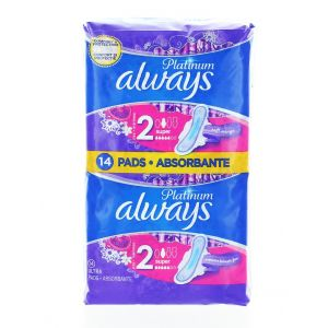 Always Absorbante 14 buc Platinum Super S2