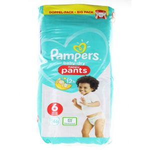 Pampers scutece chilotel nr.6  15+ kg 46 buc Baby-Dry