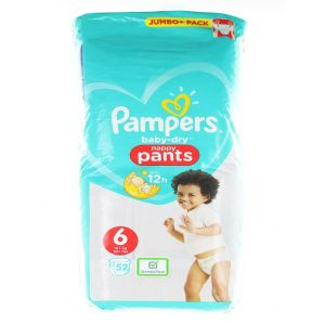 Pampers scutece chilotel nr. 6  15+ kg 52 buc Baby-Dry