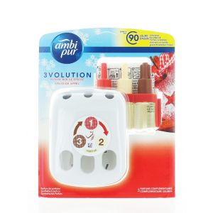 Ambi Pur Aparat Odorizant Priza + Rezerva 3 volution 20 ml Spicy Apple