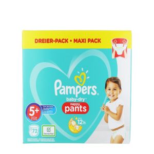 Pampers scutece chilotel nr. 5+ 12-17 kg 72 buc Baby-dry
