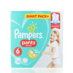 Pampers scutece chilotel nr. 6 15+ kg 60 buc Giant Pack