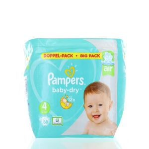 Pampers Scutece nr.4 9-14 kg 68 buc Baby-Dry