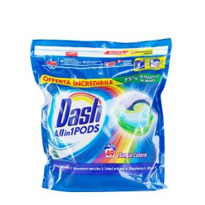 Dash Detergent Capsule 49 buc All in1 Salva Colore