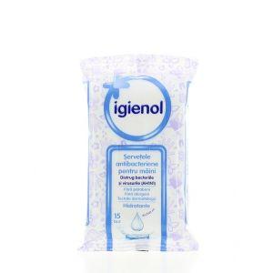 Igienol Servetele antibacteriene pentru maini 15buc Hidratante