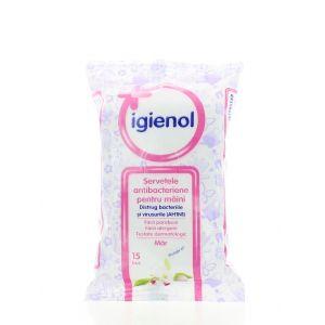 Igienol Servetele antibacteriene pentru maini 15buc Mar