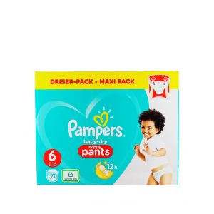 Pampers Scutece chilotel nr. 6  15+ kg 70 buc Baby-Dry