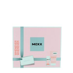 Mexx Caseta femei:Parfum+Gel de dus 15+50ml Whenever Wherever