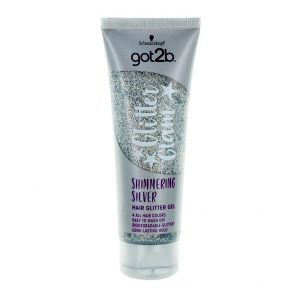Got2B Gel de par cu sclipici 50 ml Shimmering Silver (in tub)