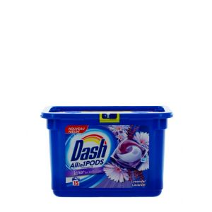 Dash Detergent Capsule 15 buc All in1 Lavender with Lenor