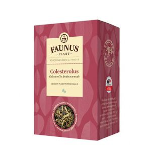 FAUNUS Ceai Colesterolus 90 g (Colesterol in limite normale)