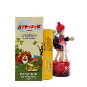 Bioeel Apetito+VIT C(100 mg propolis)+CADOU 150ml+20 comprimate mastacabile