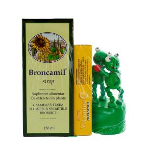Bioeel Broncamil+VIT C(100 mg propolis)+CADOU 150ml+20 comprimate mastacabile