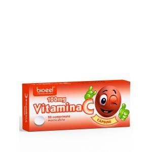 Bioeel Vitamina C 100 mg 20 comprimate masticabile cu aroma de capsuni