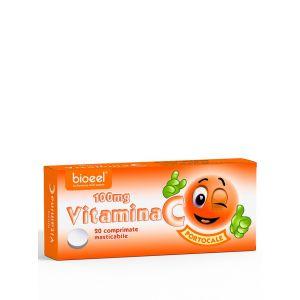 Bioeel Vitamina C 100 mg 20 comprimate masticabile cu aroma de portocale
