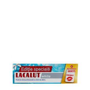 Lacalut Pasta de dinti 75 ml White+Ata dentara