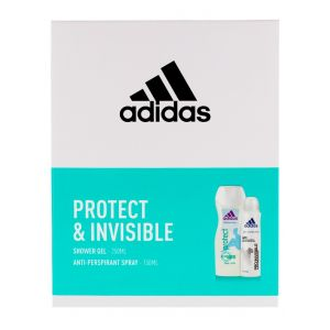 Adidas Caseta femei:Gel de dus+Spray deodorant 250+150 ml Protect&Invisible