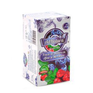 AdNatura Ceai Fructe de padure cu afine si merisoare 20 plicuri
